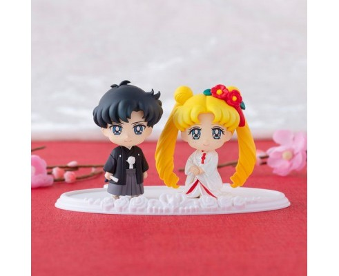 Sailor Moon Petit Chara! Pretty Soldier - Sailor Moon Happy Wedding White Inui ver.